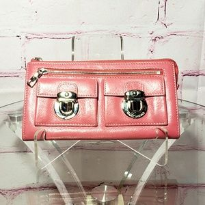 Marc Jacobs Coral Punch Lock Wallet Clutch